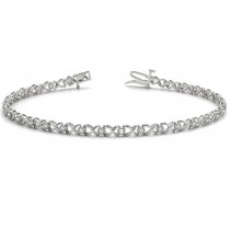 Diamond XOXO Bracelet 14k White Gold (0.29ct)