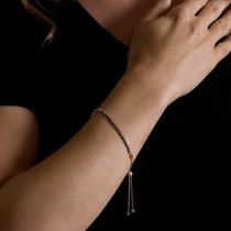Bolo Adjustable Fashion Tennis Bracelet 18k White Gold (0.66ct)