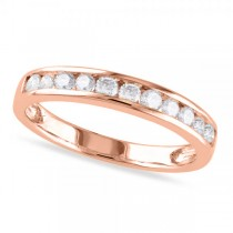 Channel Set Diamond Wedding Band 14k Rose Gold (0.44ct)