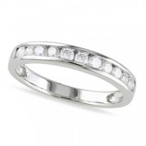 Channel Set Diamond Wedding Band 14k White Gold (0.44ct)