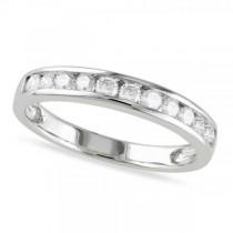 Channel Set Diamond Wedding Band 14k White Gold (0.44ct)