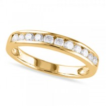Channel Set Diamond Wedding Band 14k Yellow Gold (0.44ct)