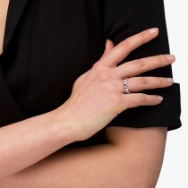 Channel Set Round Ruby & Diamond Wedding Band 14k White Gold (0.62ct)|escape