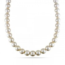 Cultured South Sea Pearls Strand Graduated Necklace 11-13.9mm 14k Gold