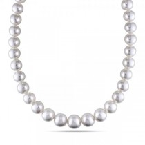 Cultured South Sea Pearls Strand Graduated Necklace 12-14mm 14k Gold