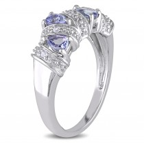Pear Tanzanite Fashion Gemstone Ring Sterling Silver (0.60ct)