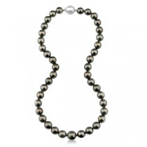 Women's AAA Tahitian Pearl Strand Necklace 18 inch Station 8.0-10.5mm|escape