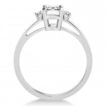 Diamond Emerald Cut Three-Stone Ring 14k White Gold (1.04ct)