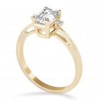 Diamond Emerald Cut Three-Stone Ring 14k Yellow Gold (1.04ct)