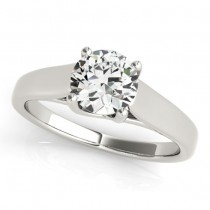 Diamond Solitaire Engagement Ring 14k White Gold (1.00ct)