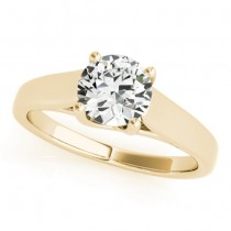 Diamond Solitaire Engagement Ring 14k Yellow Gold (1.00ct)
