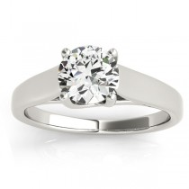 Lucida Solitaire Cathedral Engagement Ring 18k White Gold