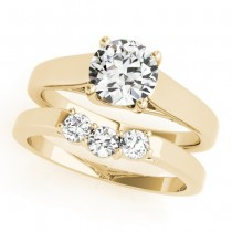 Diamond Solitaire Bridal Set 18k Yellow Gold (1.24ct)