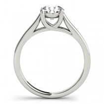 Lucida Solitaire Cathedral Bridal Set 14k White Gold (0.24ct)