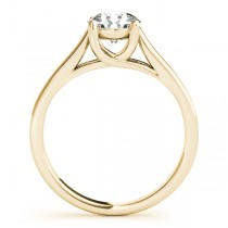 Lucida Solitaire Cathedral Bridal Set 18k Yellow Gold (0.24ct)