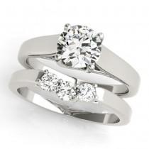 Diamond Solitaire Bridal Set Palladium (1.24ct)
