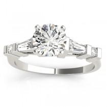 Diamond Tapered Baguette Engagement Ring 14k White Gold (0.33ct)