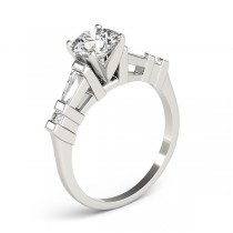 Diamond Tapered Baguette Engagement Ring 14k White Gold (0.33ct)