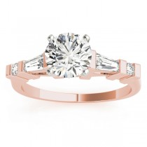 Diamond Tapered Baguette Engagement Ring 18k Rose Gold (0.33ct)