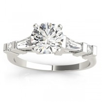 Diamond Tapered Baguette Engagement Ring 18k White Gold (0.33ct)