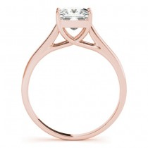 Diamond Princess Cut Solitaire Engagement Ring 14k Rose Gold (1.24ct)