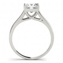 Diamond Princess Cut Solitaire Engagement Ring 18k White Gold (1.24ct)