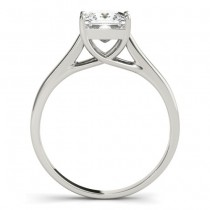 Diamond Princess Cut Solitaire Bridal Set 18k White Gold (1.24ct)