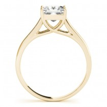 Diamond Princess Cut Solitaire Bridal Set 18k Yellow Gold (1.24ct)