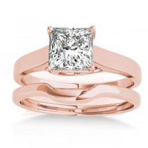 Solitaire Bridal Set 14k Rose Gold