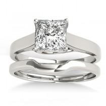 Solitaire Bridal Set 14k White Gold