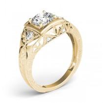 Vintage Victorian Diamond Engagement Ring 14k Yellow Gold (0.57ct)