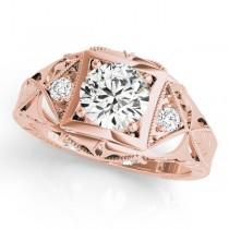 Vintage Victorian Diamond Engagement Ring 18k Rose Gold (0.57ct)