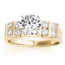 Diamond Chanel Set Double Row Engagement Ring 14k Yellow Gold (0.48ct)