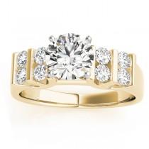 Diamond Chanel Set Antique Engagement Ring 14k Yellow Gold (0.48ct)