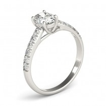 Oval Cut Diamond Engagement Ring Palladium (0.39ct)