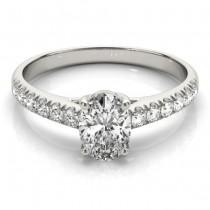 Oval Cut Diamond Engagement Ring Platinum (0.39ct)