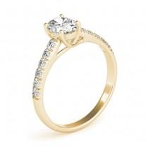 Oval Cut Diamond Engagement Ring 18K Yellow Gold (0.61ct)
