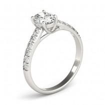 Oval Cut Diamond Engagement Ring Platinum (0.61ct)