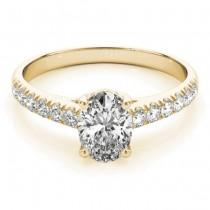 Oval Cut Diamond Engagement Ring 14K Yellow Gold (1.00ct)