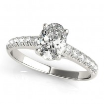 Oval Cut Diamond Engagement Ring Palladium (1.00ct)