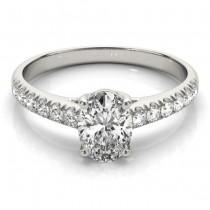 Oval Cut Diamond Engagement Ring Platinum (1.00ct)