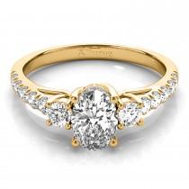 Oval Cut Diamond Engagement Ring 14k Yellow Gold (1.40ct)
