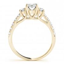 Oval Cut Diamond Engagement Ring 18k Yellow Gold (1.40ct)