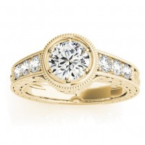 Diamond Antique Style Engagement Ring Setting 14K Yellow Gold (0.24ct)