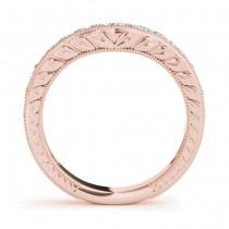 Diamond Antique Style Bridal Set Setting 18K Rose Gold (0.47ct)