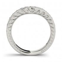 Diamond Antique Style Bridal Set Setting 18K White Gold (0.47ct)