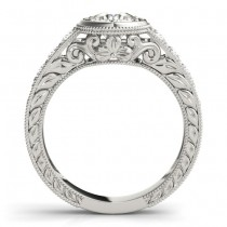Diamond Antique Style Bridal Set Setting Palladium (0.47ct)