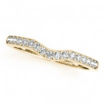 Diamond Contoured Wedding Band 18k Yellow Gold (0.24ct)