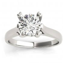 Solitaire Cathedral Prong-Set Engagement Ring Setting 14K White Gold
