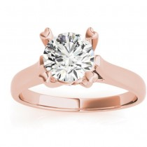 Solitaire Cathedral Prong-Set Engagement Ring Setting 18K Rose Gold